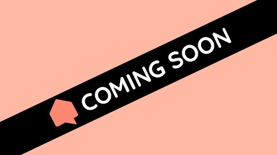 "Grafik mit Banner ""Coming soon"""