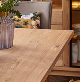 Tischplatte aus Massivholz